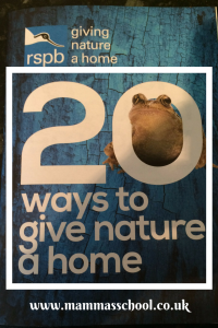 RSPB 20 ways to give nature a home, RSPB nature garden www.mammasschool.co.uk