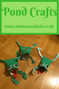 Pond craft, pond life craft, frog craft www.mammasschool.co.uk