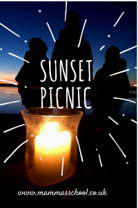 sunset picnic valentines day outdoor cooking www.mammasschool.co.uk