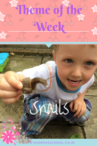 Snails nature learning www.mammasschool.co.uk