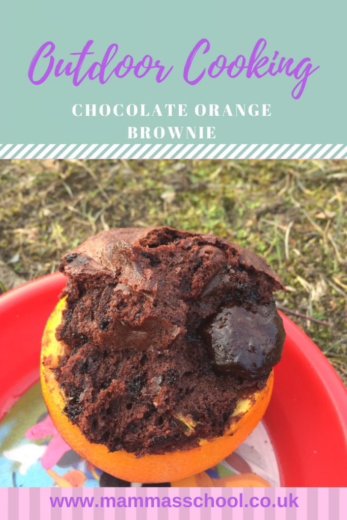 Chocolate Orange Brownies, fire pit cooking, outdoor cooking, bushcraft, camping food, camping, hiking, campfire, www.mammasschool.co.uk