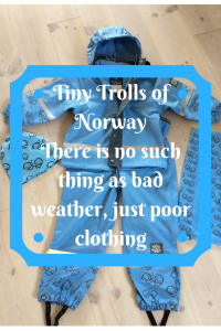 Tiny Trolls of Norway children's outdoor clothing www.mammasschool.co.uk