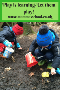 Play is learning-let them play, unstructured play, play is important, play www.mammasschool.co.uk