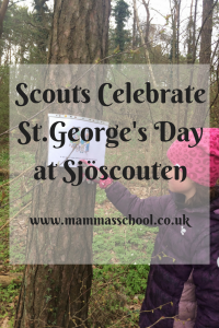 Scouts Celebrate St.George's Day at Sjöscouten www.mammasschool.co.uk