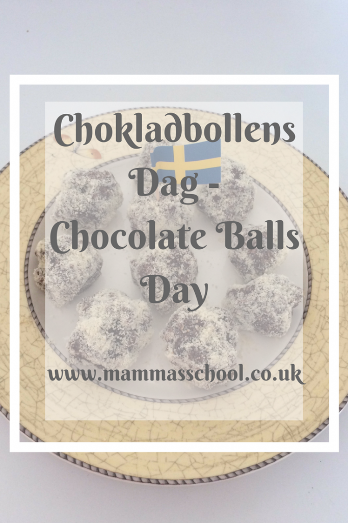 choklad bollar, chocolate balls, chokladbollens dag, chocolate balls day, Swedish food, Swedish recipe, Sweden www.mammasschool.co.uk