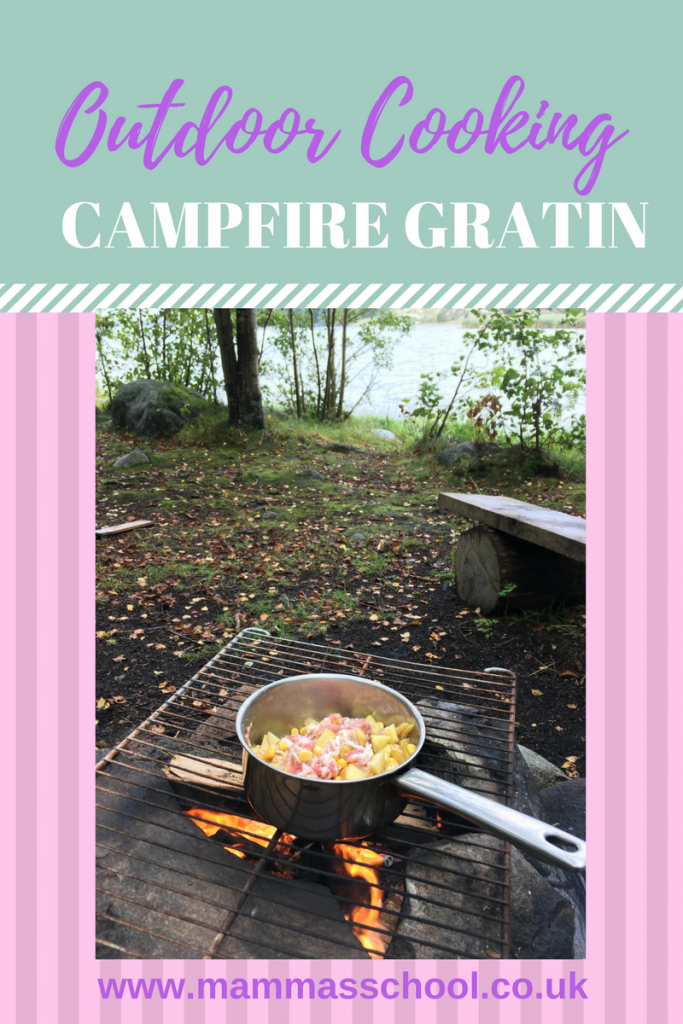 Campfire Gratin, gratin, outdoor food, outdoor cooking, outdoor meals, campfire meal, www.mammasschool.co.uk