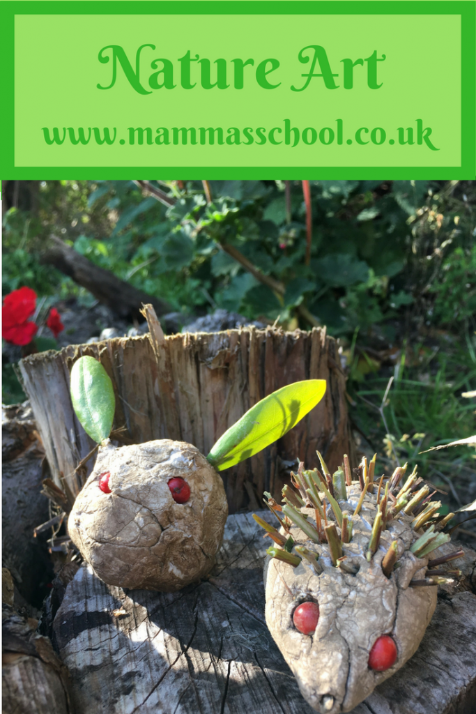 Nature art, nature craft, art and craft, outdoors art, outdoors craft, www.mammasschool.co,.uk