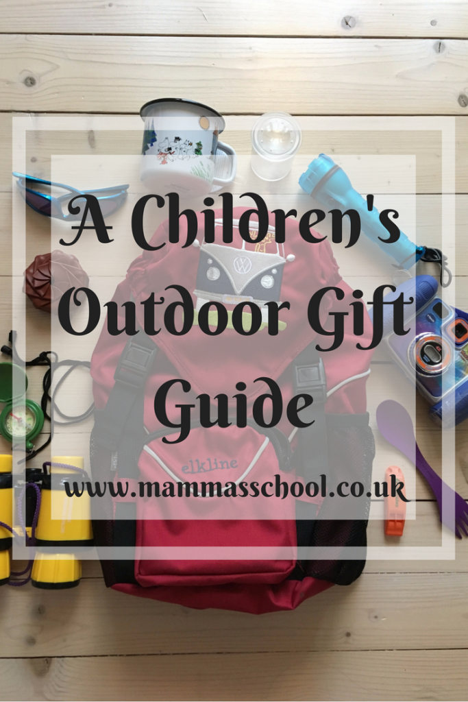 A Childrens outdoor gift guide, outdoor gifts, gift guide, christmas gifts, stocking fillers, outdoors, www.mammasschool.co.uk