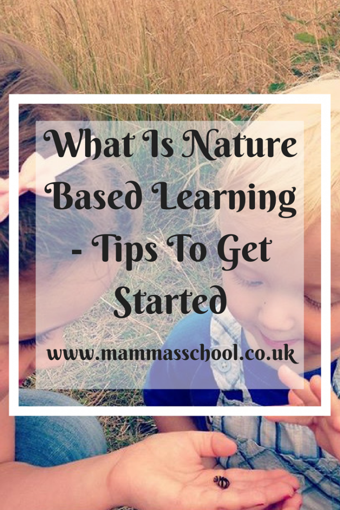What is nature based learning - tips to get started, tips for nature based learning, nature, outdoor classroom, nature curriculum, forest school, www.mammasschool.co.uk