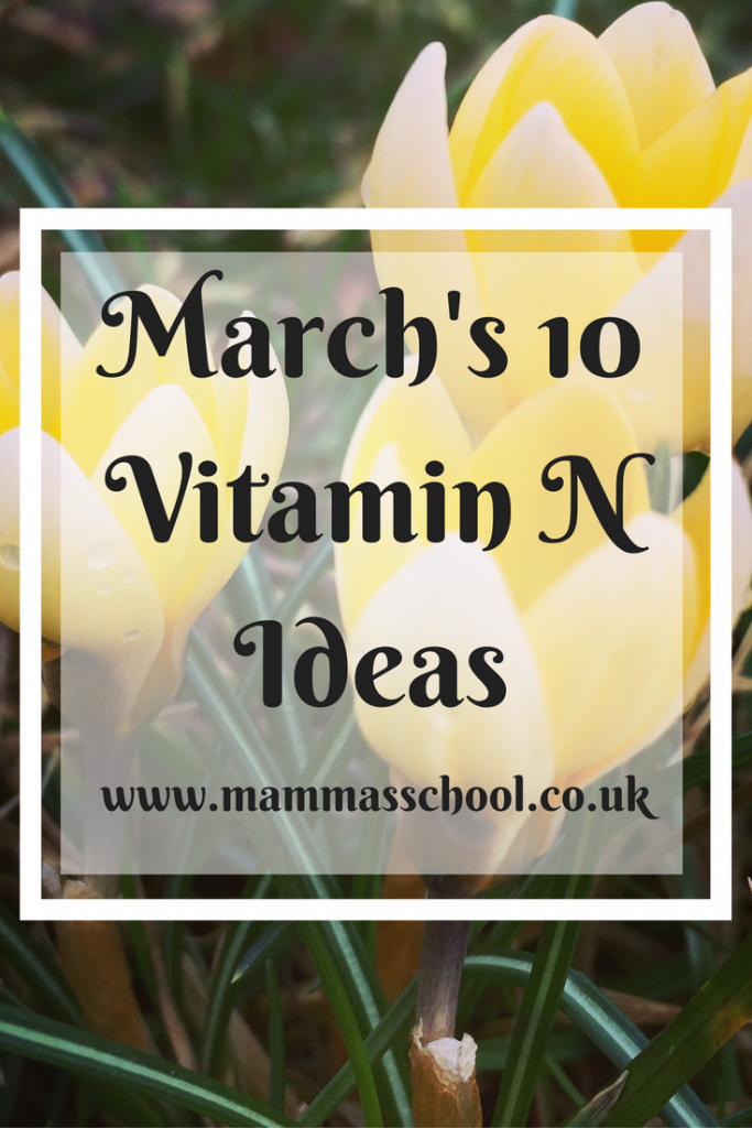 Get Your Vitamin N - March outdoor activity list, outdoors, outdoor fun, outdoor activities, spring fun, vitamin N, www.mammasschool.co.uk