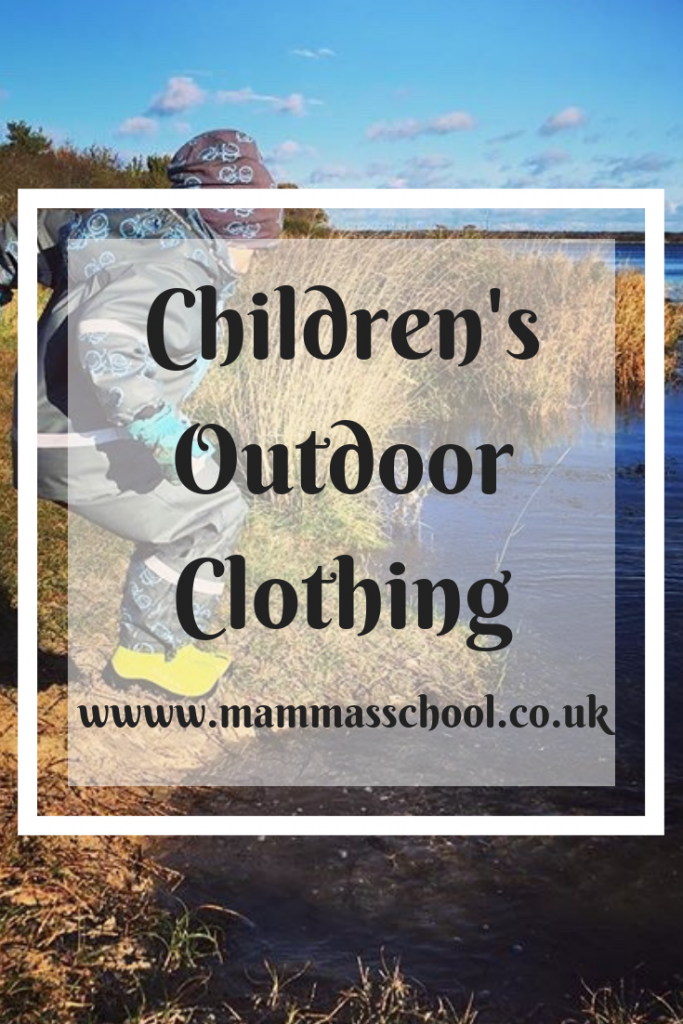 Children's outdoor clothing, children's outdoor clothes, children's outdoor kit, outdoor clothing, waterproofs, winter clothing, www.mammasschool.co.uk