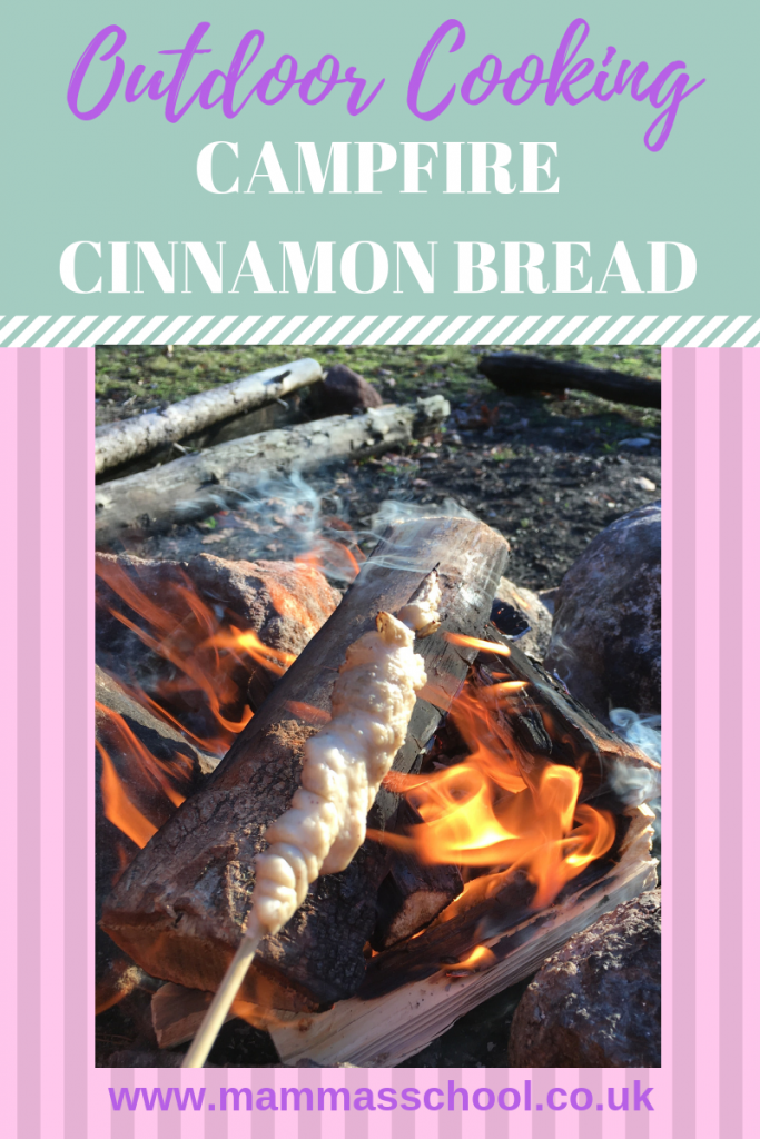 Campfire Cinnamon Bread - Bread on a stick, campfire cooking, outdoor cooking, bread, cinnamon bread, campfire food, www.mammasschool.co.uk