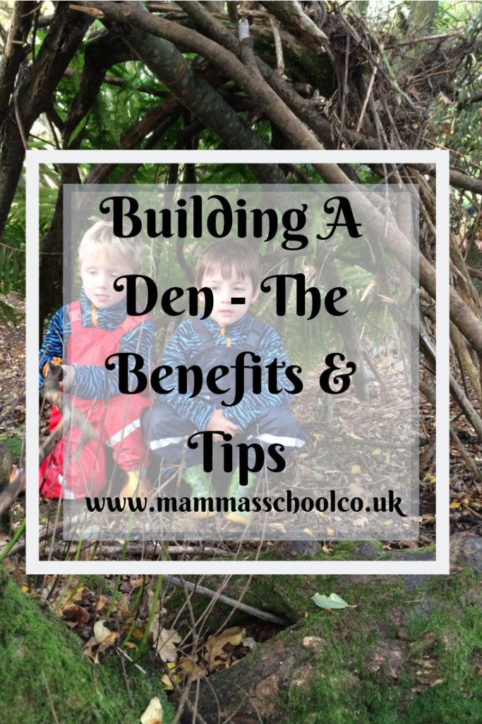 Building a den - the benefits & tips, den building, dens, shelters, outdoor fun, outdoor kids, bushcraft, www.mammasschool.co.uk