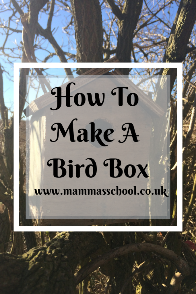 How to make a bird box - A wooden nesting box, nature craft, risk, children using tools, nature, www.mammasschool.co.uk