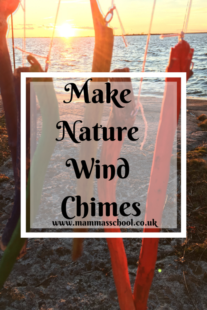 Make A Nature Wind Chime Craft, wind chimes, make wind chimes, wind chime craft, nature craft, forest school, outdoor learning, www.mammasschool.co.uk