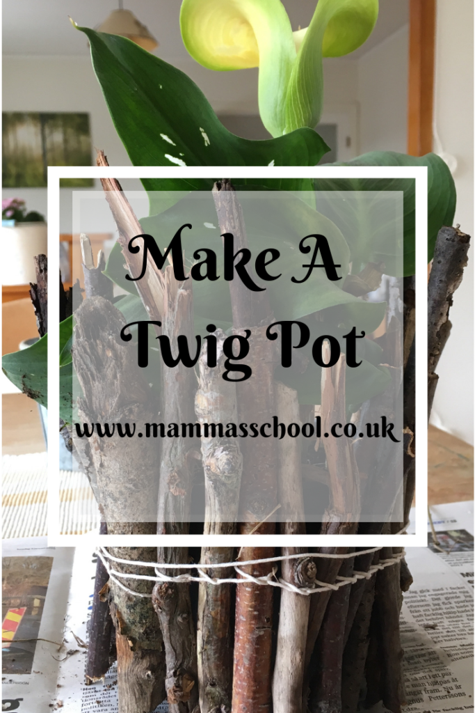 Nature Craft Make A Twig Pot, nature craft, forest school, outdoor learning, twig pot, www.mammasschool.co.uk