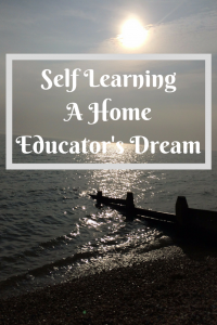 Self Learning A home Educator's name motivated learning www.mammasschool.co.uk