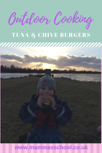 Tuna and chive burgers outdoor cooking www.mammasschool.co.uk