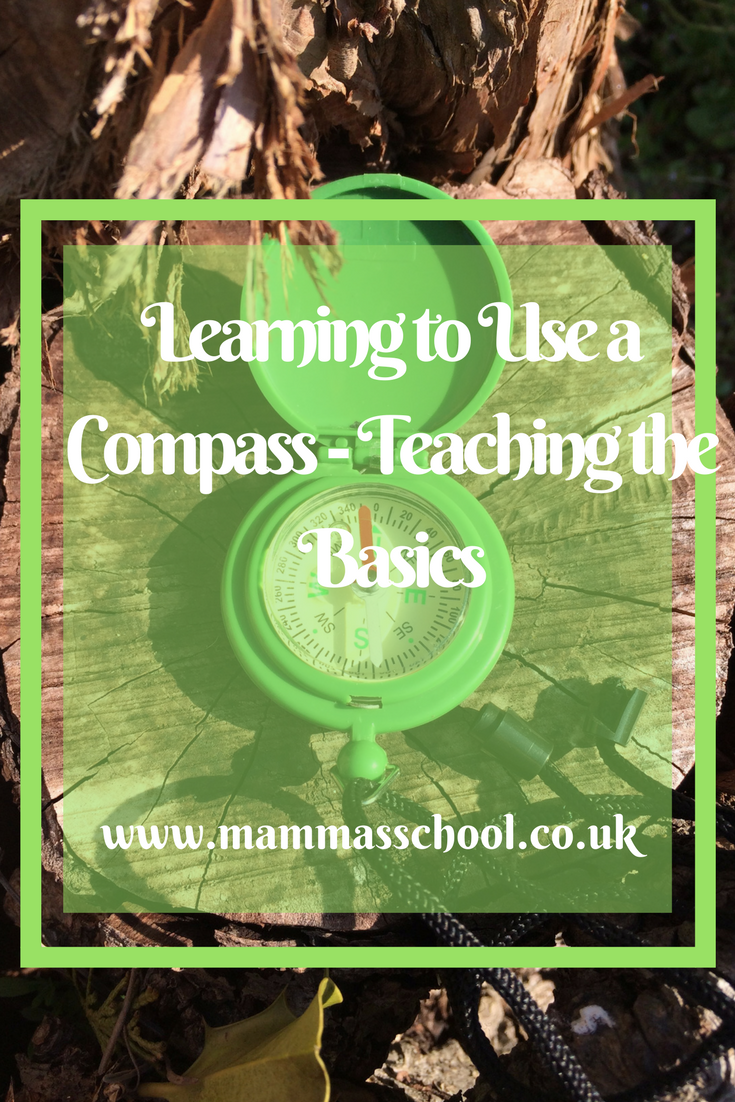 Learning to Use a compass-teaching the basics, compass, navigation, orienteering, map reading www.mammasschool.co.uk
