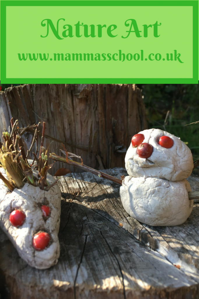 nature art, nature craft, outdoor art, outdoor craft, art and craft, www.mammasschool.co.uk
