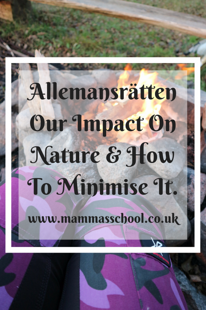 Allemansrätten, Our impact on nature and how to minimise it, allemansratten, every mans rights, Sweden, outdoors Sweden, impact on nature, hiking, camping, bushcraft, www.mammasschool.co.uk