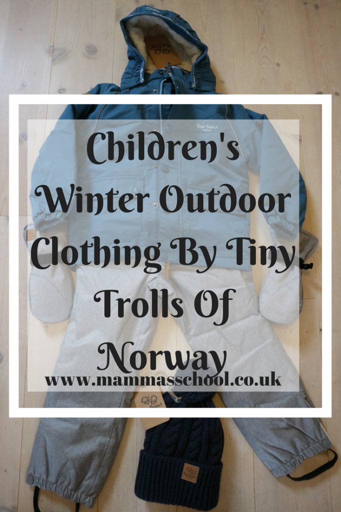 Children's winter outdoor clothing by tiny trolls of Norway, Tiny Trolls of Norway, Norway, Outdoor Clothing, children's outdoor clothing, winter clothing, children's winter clothing, www.mammasschool.co.uk