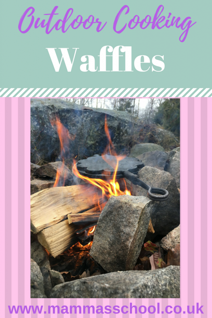 Campfire Waffles, Waffles, Waffle Recipe, Outdoor Waffles, Outdoor cooking, campfire recipes, bush craft waffles, www.mammasschool.co.uk
