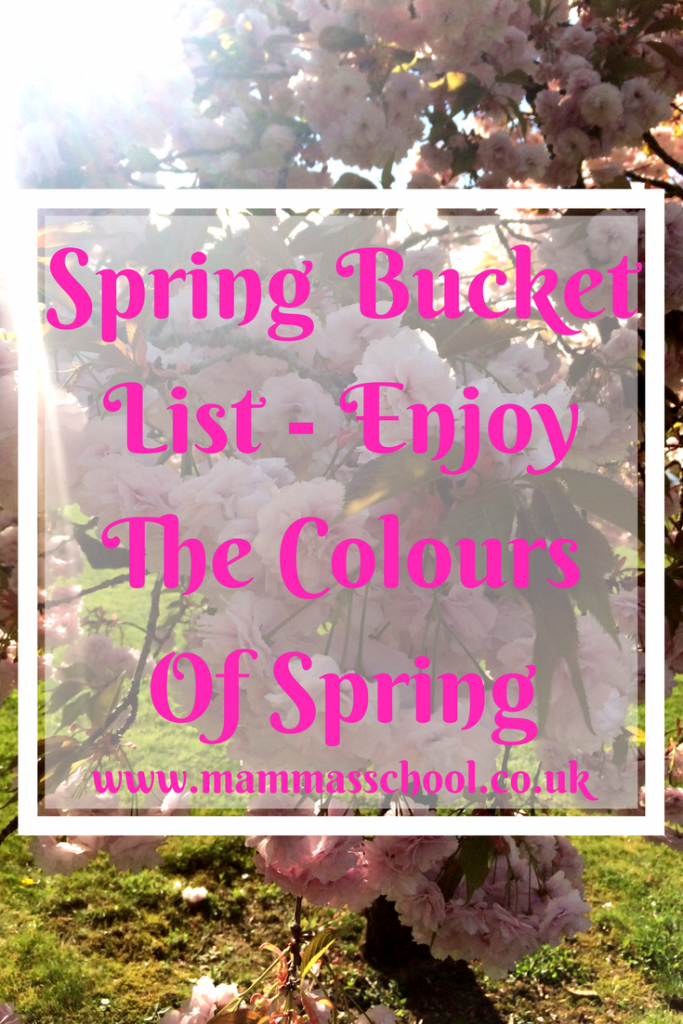 Spring Bucket List - Enjoy The Colours Of Spring, Spring, Spring craft, Easter, Spring activities, Spring fun, Spring kids, www.mammasschool.co.uk