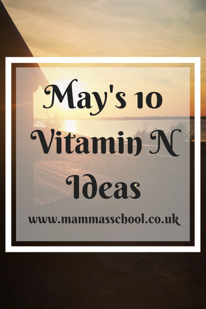 May outdoor activity list, Get your vitamin N - May's 10 vitamin N ideas, vitamin N, nature play, outdoor play, www.mammasschool.co.uk