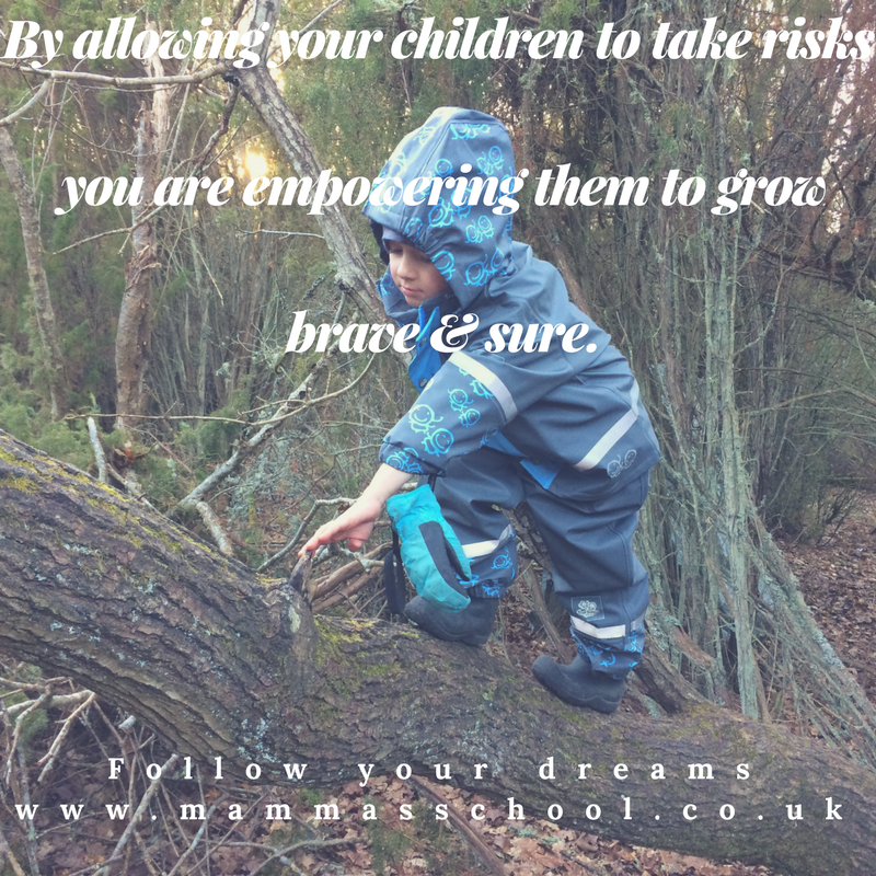 Inspiration Wednesday - Taking risks, risks, risk, children risk, risk children, take a risk, www.mammasschool.co.uk