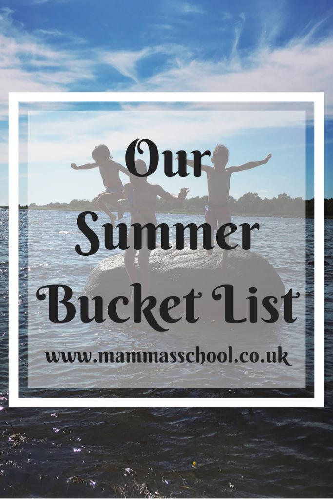 Our Summer bucket list, summer activities, summer, summer outdoors, www.mammasschool.co.uk