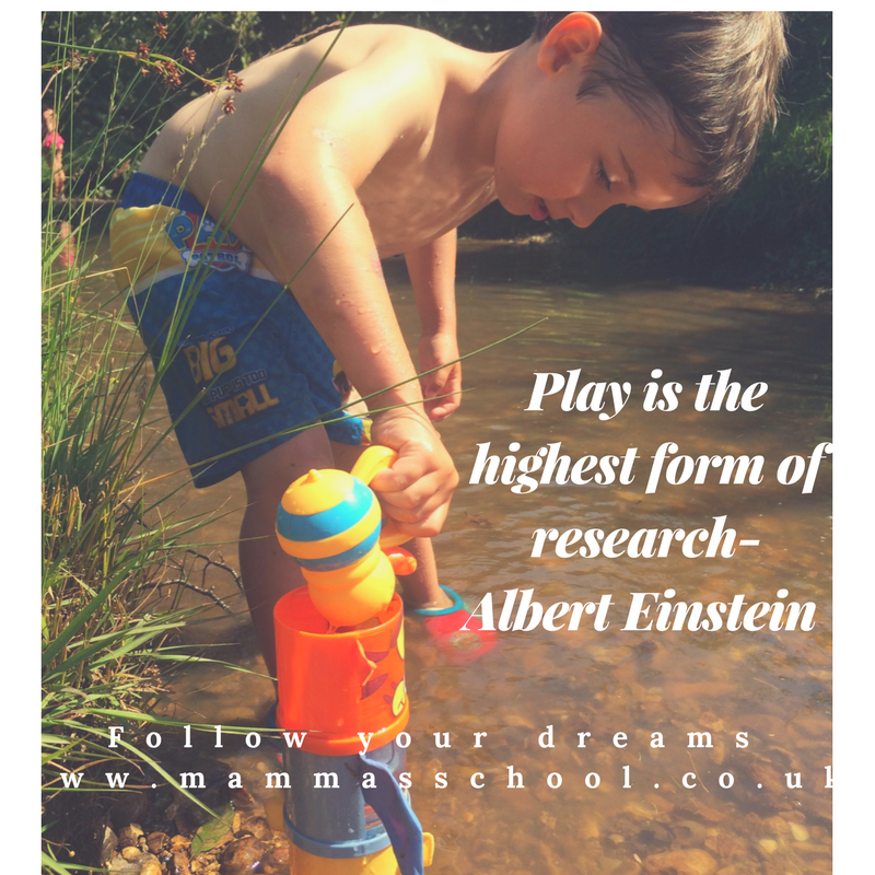 Inspiration Wednesday - Play is learning, play is research, play is important, free play, unstructured play, www.mammasschool.co.uk