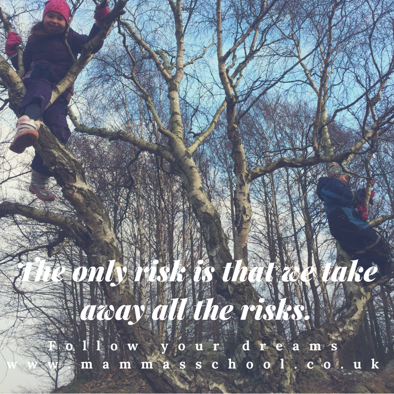 Inspiration Wednesday - Allow risk, risks, taking risks, risk, www.mammasschool.co.uk