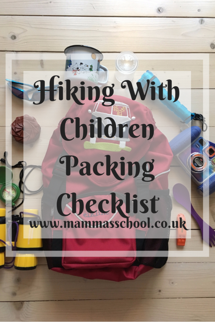 Hiking with children packing checklist, friluftsliv, outdoor life, outdoor families, backpacks, hiking, hiking with children, www.mammasschool.co.uk
