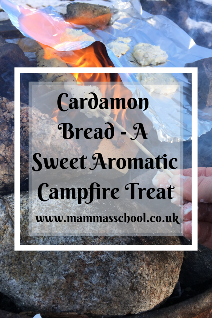 Cardamon Bread - A Sweet aromatic campfire treat, outdoor cooking, bushcraft, campfire food, hiking camping, outdoors, www.mammasschool.co.uk