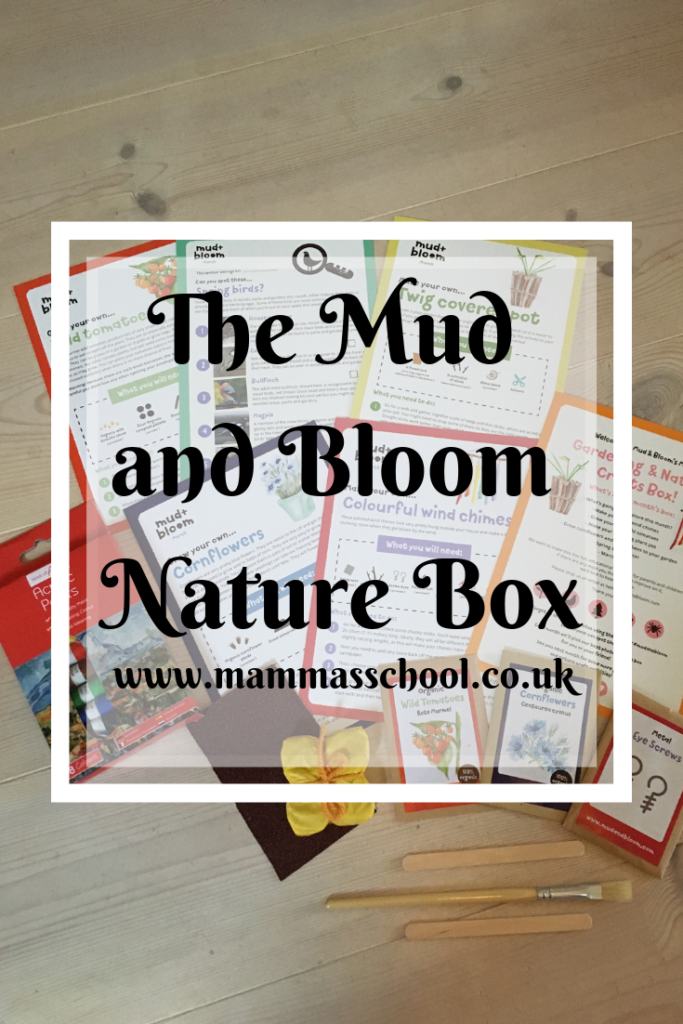 The Mud and Bloom Nature Box, nature play, nature learning, nature craft, children gardening, www.mammasschool.co.uk