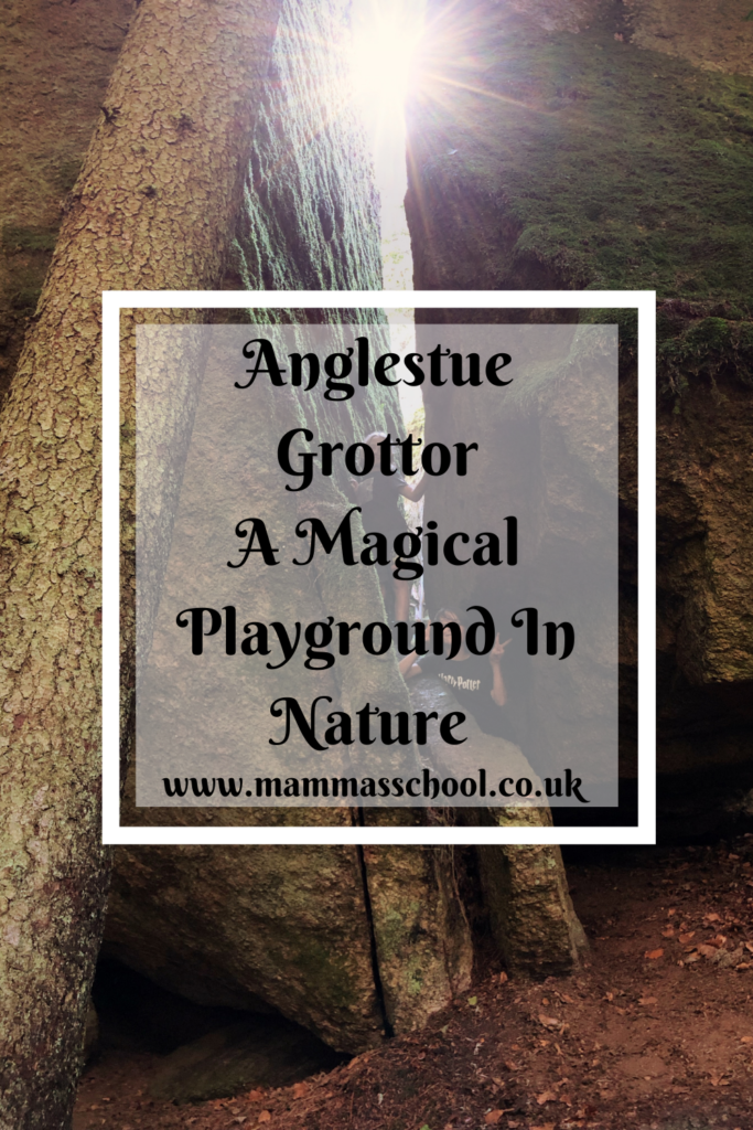 Anglestue grottor, natures playground, Ronneby slingor, Ronneby, Blekinge, Sweden, outdoor families, outdoor play, nature play